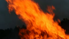 Big Fire Elements - Rising Flame C Stock Footage