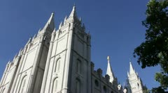 slc temple - stock footage