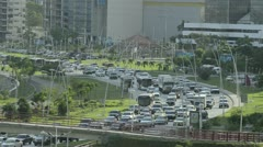 Panama city heavy traffic - stock footage