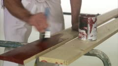 A painter and decorator Stock Footage
