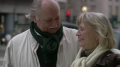 A senior couple in love, Stockholm - stock footage