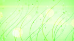 Green curves and circles abstract background loop Stock Footage