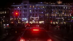 Traffic in the city centre in the evening, Stockholm Stock Footage