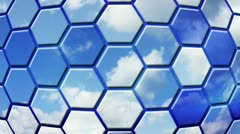 Clouds reflected in cells loopable background Stock Footage