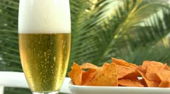 Beer is poured in a glass. Stock Footage