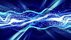 Blue energy flow loop Stock Footage