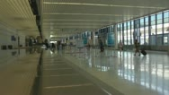 Passengers in Airport Timelapse Stock Footage