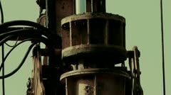 drilling machinery,Construction of city buildings,sense of history. - stock footage