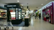 Customer in the shopping malls scene,modern city environment. Stock Footage