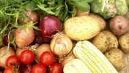 Vegetables, close-up Stock Footage