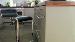 WS TU View of laptop on kitchen worktop Stock Footage