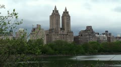 The San Remo apartment buildings in the New York City Stock Footage