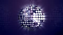 Rotating disco sphere blue Stock Footage