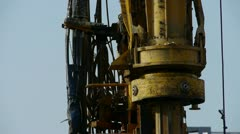 Drilling machinery,Construction of city buildings. Stock Footage