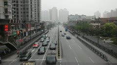 Time Lapse of Henan South Road, Fuxing East Road, Shanghai, China Stock Footage