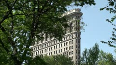 Flatiron Building (uptown Manhattan, NYC) Stock Footage