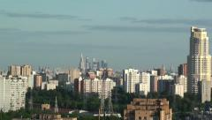 Moscow, zoom on Moscow-City business center Stock Footage
