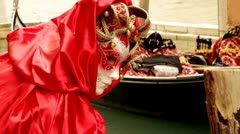 Venetian mask - Venice, Venezia Stock Footage