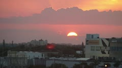 Sunset in Miami Design District Time Lapse HD Stock Footage