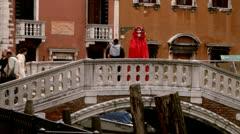 Venetian mask carneval di venezia - Venice, Venezia Stock Footage