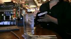 waitress, bartender - stock footage