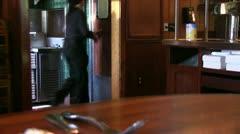 Waitress, bartender Stock Footage