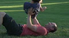 Family Fun in Park Slowmotion - stock footage