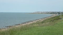 English coast in early summer Stock Footage