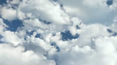 Flying through fluffy clouds with - stock footage