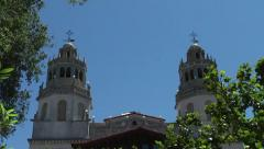 Hearst Castle 12:00 Bells Stock Footage