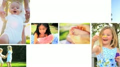 Montage African American Children Lifestyle - stock footage