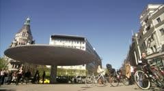 WS View of people at Stureplan / Stockholm Stock Footage