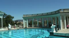 Hearst Castle - Pool Stock Footage
