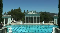 Hearst Castle - Pool Shot 1 Stock Footage