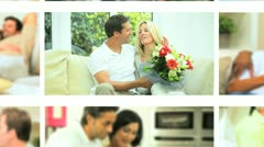 Montage Couples Leisure Relaxation Stock Footage
