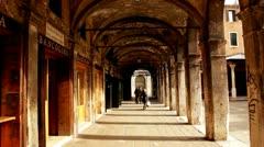 Ancient bulidings in Venice, Venezia Stock Footage