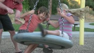Stock Video Footage of Family Fun in Park Slowmotion