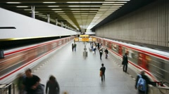 Prague, Metro station T/L - stock footage