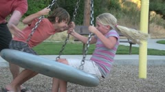 Family Fun in Park Slowmotion Stock Footage