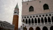 Stock Video Footage of Campanile Doge's Palace Palazzo Ducale - Venice, Venezia
