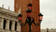 Stock Video Footage of Campanile Doge's Palace Palazzo Ducale in Venice