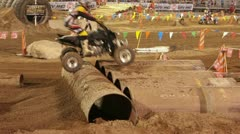 ATV four wheel obstacle challenge race P HD 0860 - stock footage