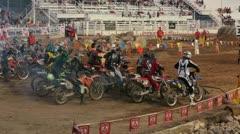 Extreme enduro motocycle race start P HD 0845 Stock Footage