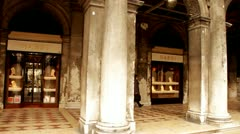 Cafe Florian St. Mark´s Square, Venice Stock Footage