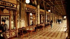 Cafe Florian at St. Mark´s Square - Venice, Venezia Stock Footage