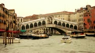 Stock Video Footage of Rialto Bridge Canale Grande - Venice, Venezia