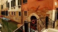 Bridge over canal - Venice, Venezia Stock Footage