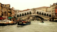 Stock Video Footage of Rialto Bridge and Canale Grande - Venice, Venezia