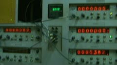 Lamp counter Stock Footage