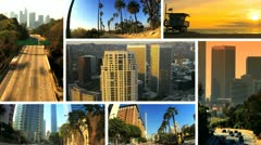Montage Los Angeles City Living Stock Footage